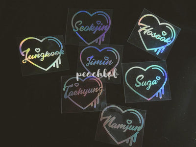 BTS Laser Sticker