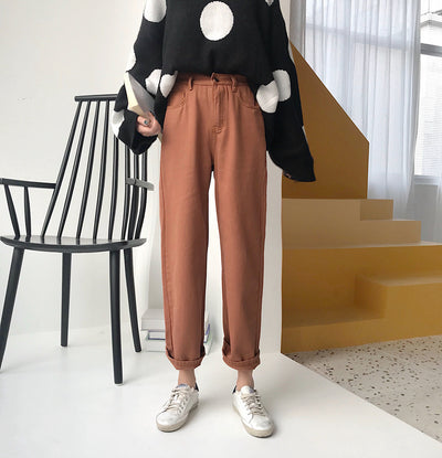 Ulzzang Loose Straight Pants