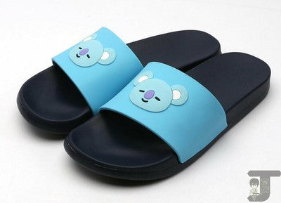 BTS Cartoon Rubber Slipper
