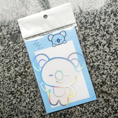 BTS Cartoon Laser Sticker