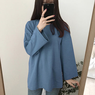 Autumn long-sleeved T-shirt for students
