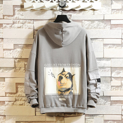 Single Dog Printed Hoodie
