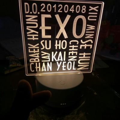 EXO Exclusive 3D Led Lamp