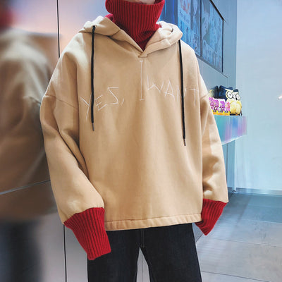 The trendy high collar hoodie