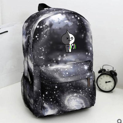 BTS Galaxy Cartoon Backpack