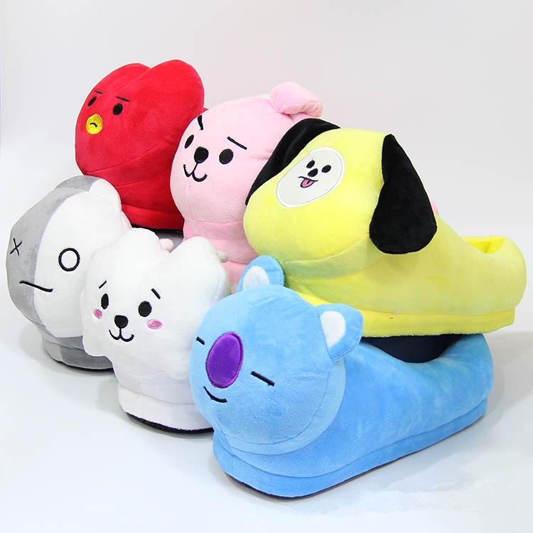 [Buy 1 Get 1 FOR FREE] BTS Cartoon Slipper