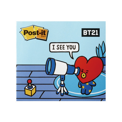 BT21 Post-it Cover Note Sticky Memo