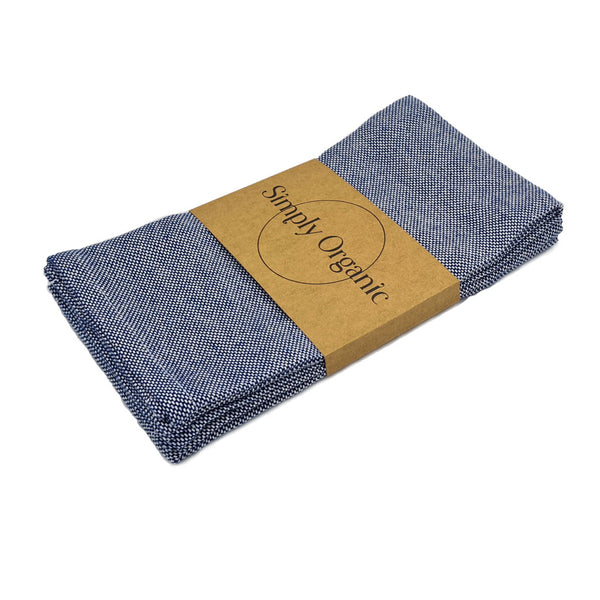 Simply Organic viskestykke denim blue
