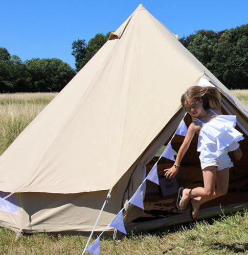 3 meter of 2 persoons canvas tent canvascamp