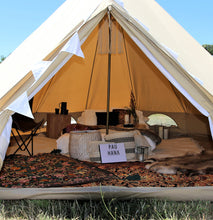 4.5 meter of 4 persoons canvas tent canvascamp