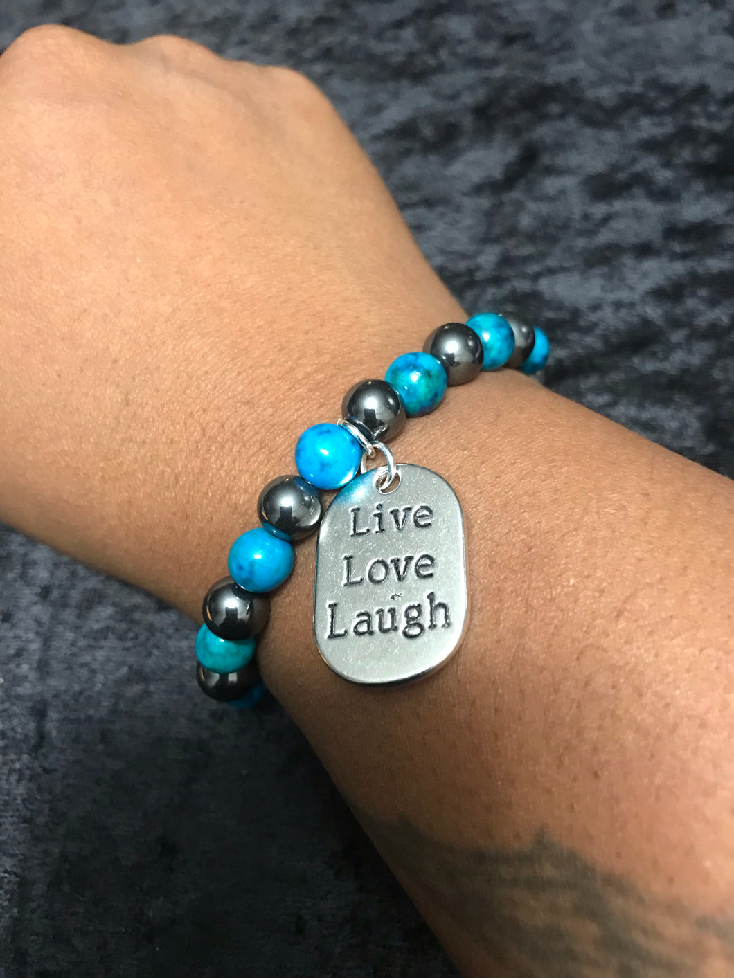 Live, Love, Laugh Teal