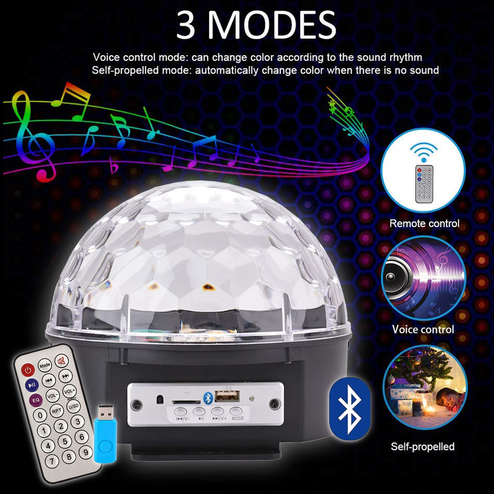 MP3 LED MAGIC BALL LIGHT