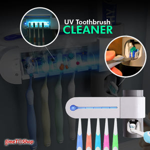 TOOTHBRUSH STERILIZER WITH AUTOMATIC TOOTHPASTE DISPENSER
