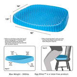 Egg Sitter Honeycomb Gel Breathable Back Support Seat Mat
