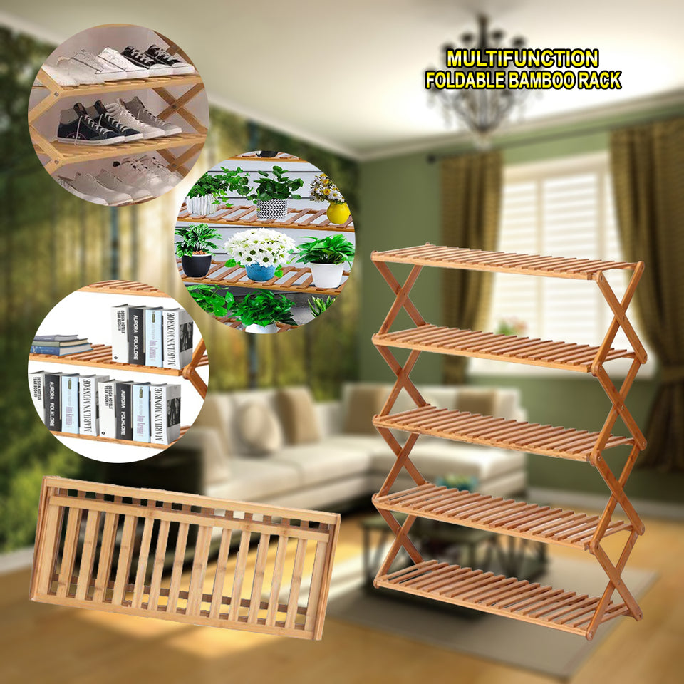 BAMBOO RACK MULTI FUNCTION FOLDABLE