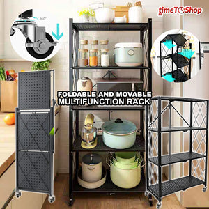 Multifunctional Movable & Foldable Storage Rack (4layers & 3layers)