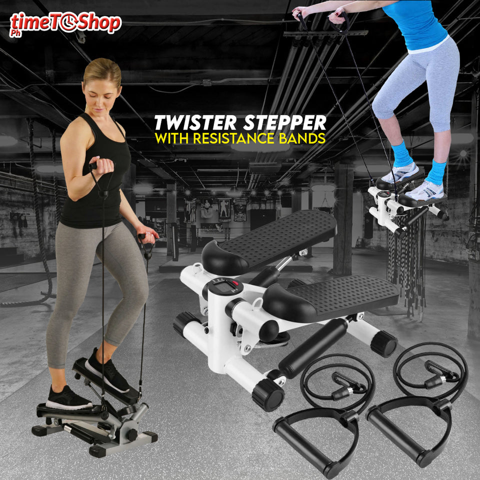TWISTER STEPPER with RESISTANCE BANDS
