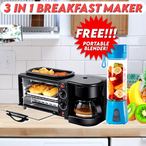 3 in 1 Breakfast Maker with FREE USB Blender (Limited Time Only)