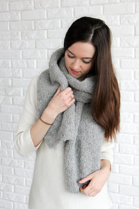 Warm Alpaca Wool Winter Scarf For Women by La Knitteria
