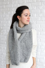 big oversized winter scarf in light gray