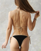 Gold Sparkle Cheeky Brazilian Crochet Bikini