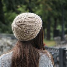 beige alpaca wool woman slouch hat