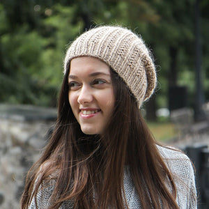 Handknitted Women Wool Slouch Hat
