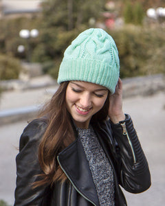 custom made merino womens knit hat