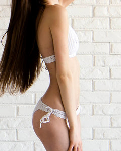 Carambola White Crochet Bathing Suit