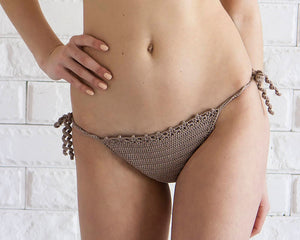 Guava Crochet Swimsuit Bottoms