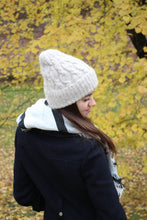 light beige warm winter hat