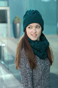 Soft Merino Wool Eternity Scarf And Hat
