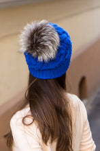 Winter Hat With Fur Pom Pom