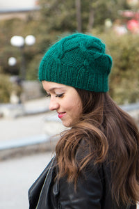 emerald green slouch beanie hat