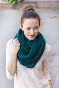 chunky oversized loop scarf in emerald green by laknitteria