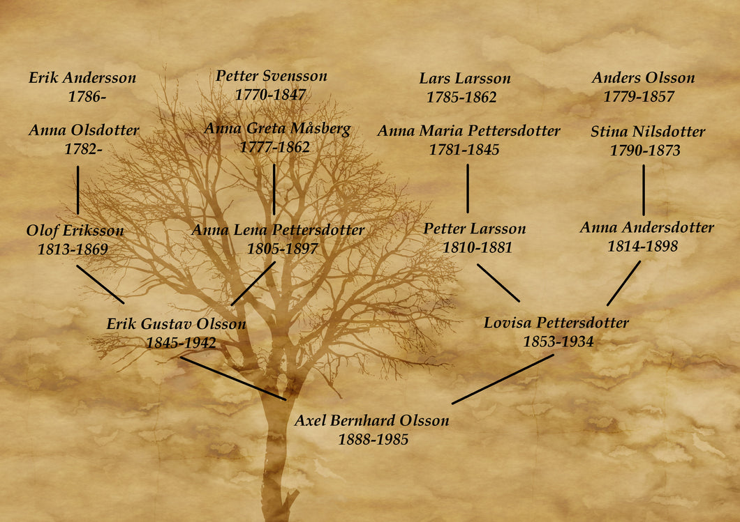 Family tree - initial search and estimate
