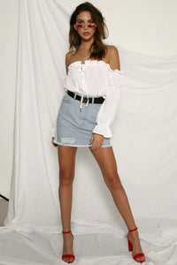 Hello Sailor Denim Mini Skirt