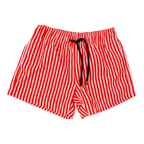 Men Red Stripes Shorts