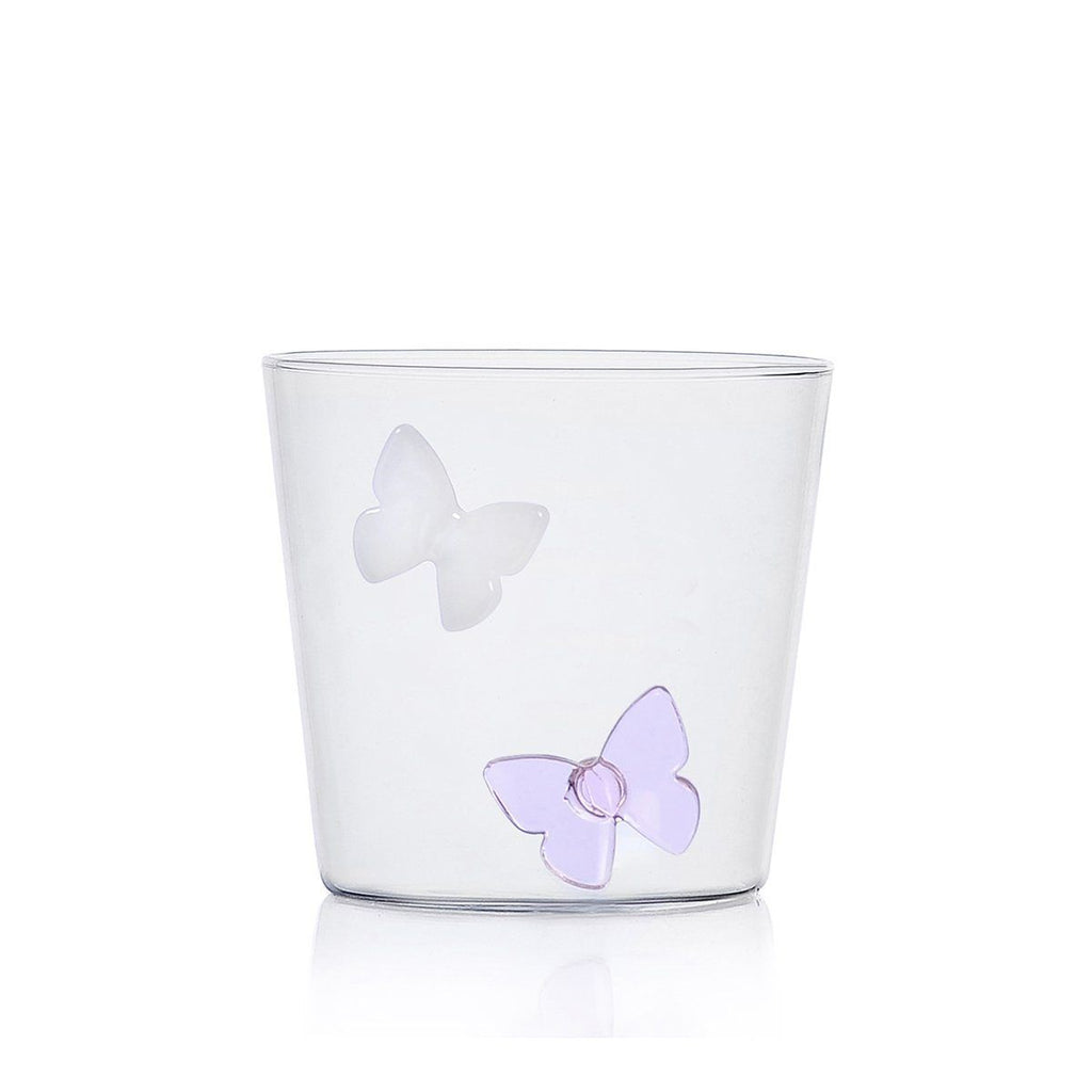 Ichendorf Greenwood Butterfly Outside Tumbler, Clear
