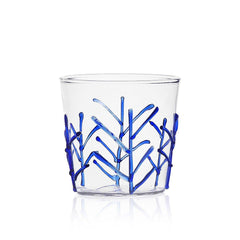 Ichendorf Greenwood Blue Branches Tumbler, Clear