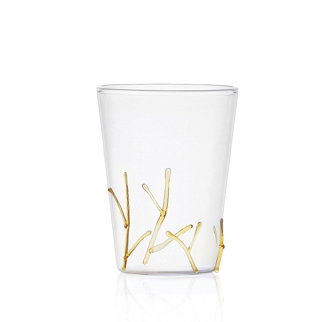 Ichendorf Greenwood Long Amber Branches Glass, Clear