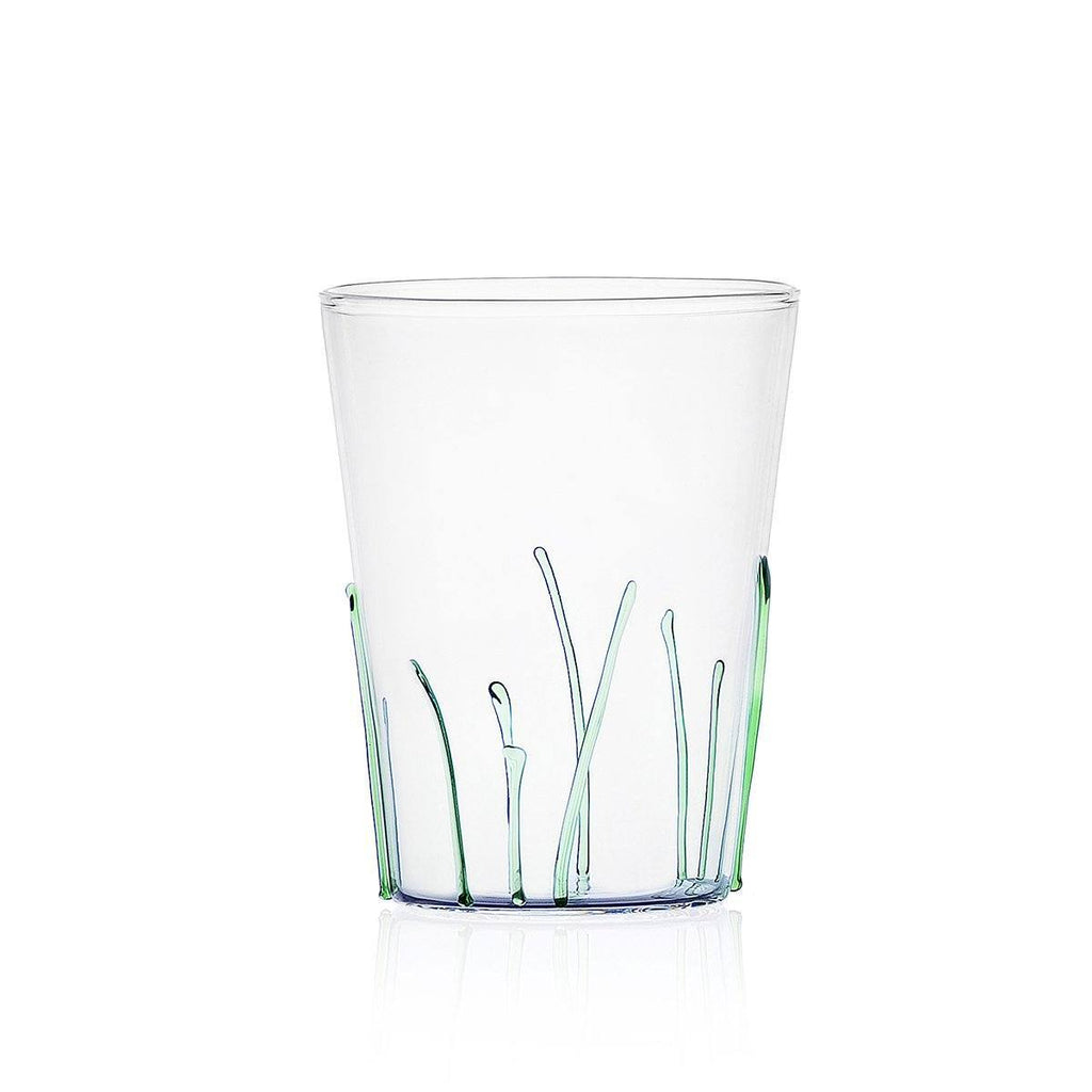 Ichendorf Greenwood Long Green Grass Glass, Clear