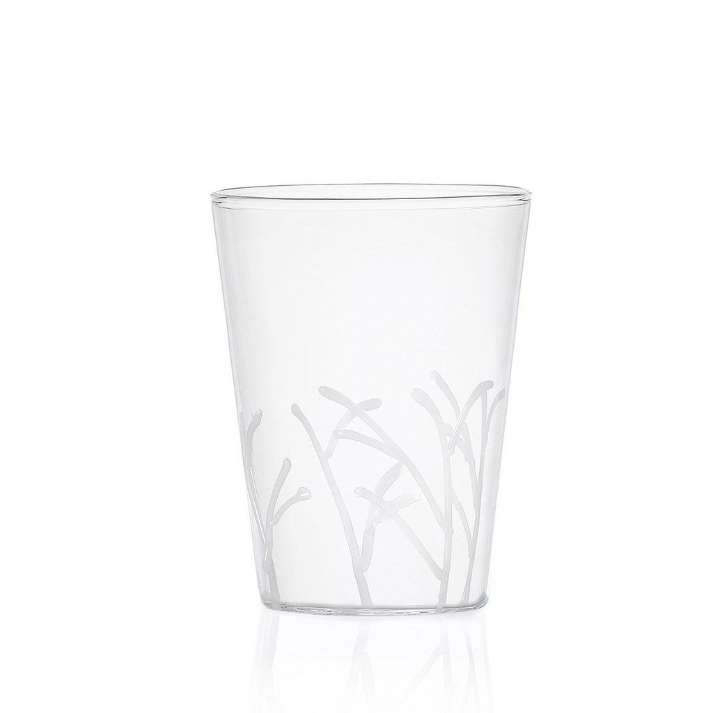 Ichendorf Greenwood Long White Branches Glass, Clear