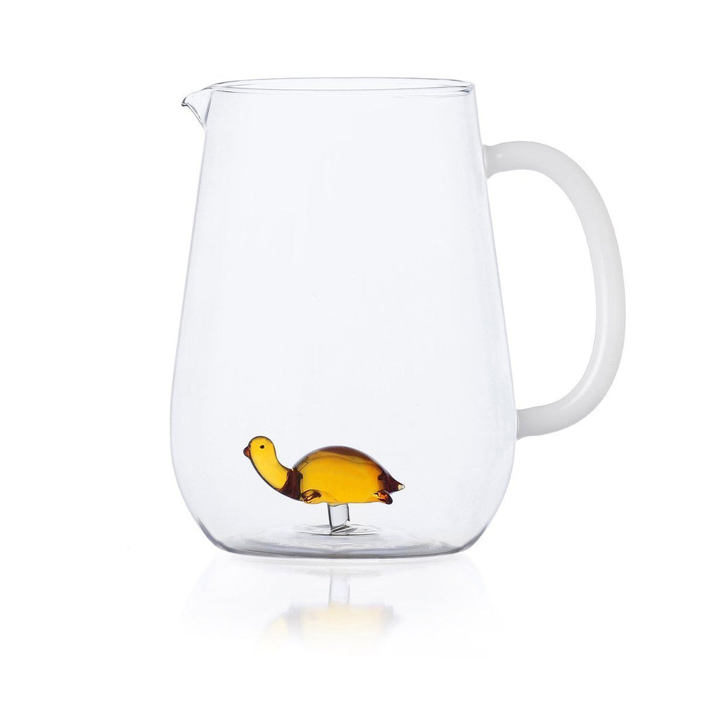 Ichendorf Animal Farm Turtle Jug, Clear