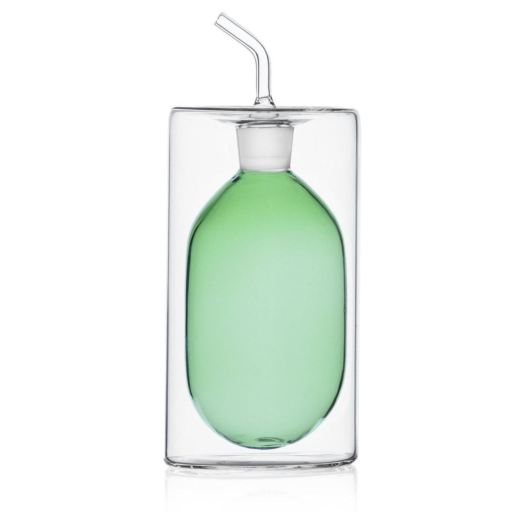 Ichendorf Cilindro 2-Walled Oil Bottle, Green, 250 ml