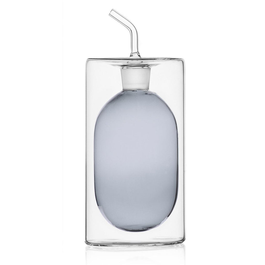 Ichendorf Cilindro 2-Walled Oil Bottle, Smoke, 250 ml