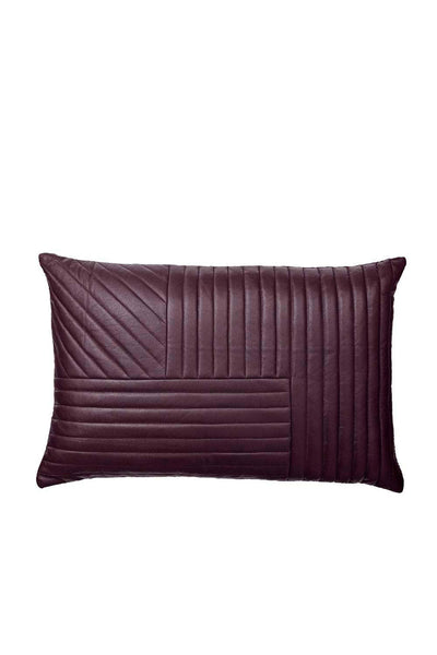 Motum Sheep Leather Cushion, Bordeaux, 60x40 cm