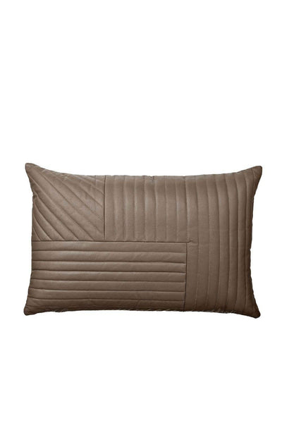 Motum Sheep Leather Cushion, Taupe, 60x40 cm