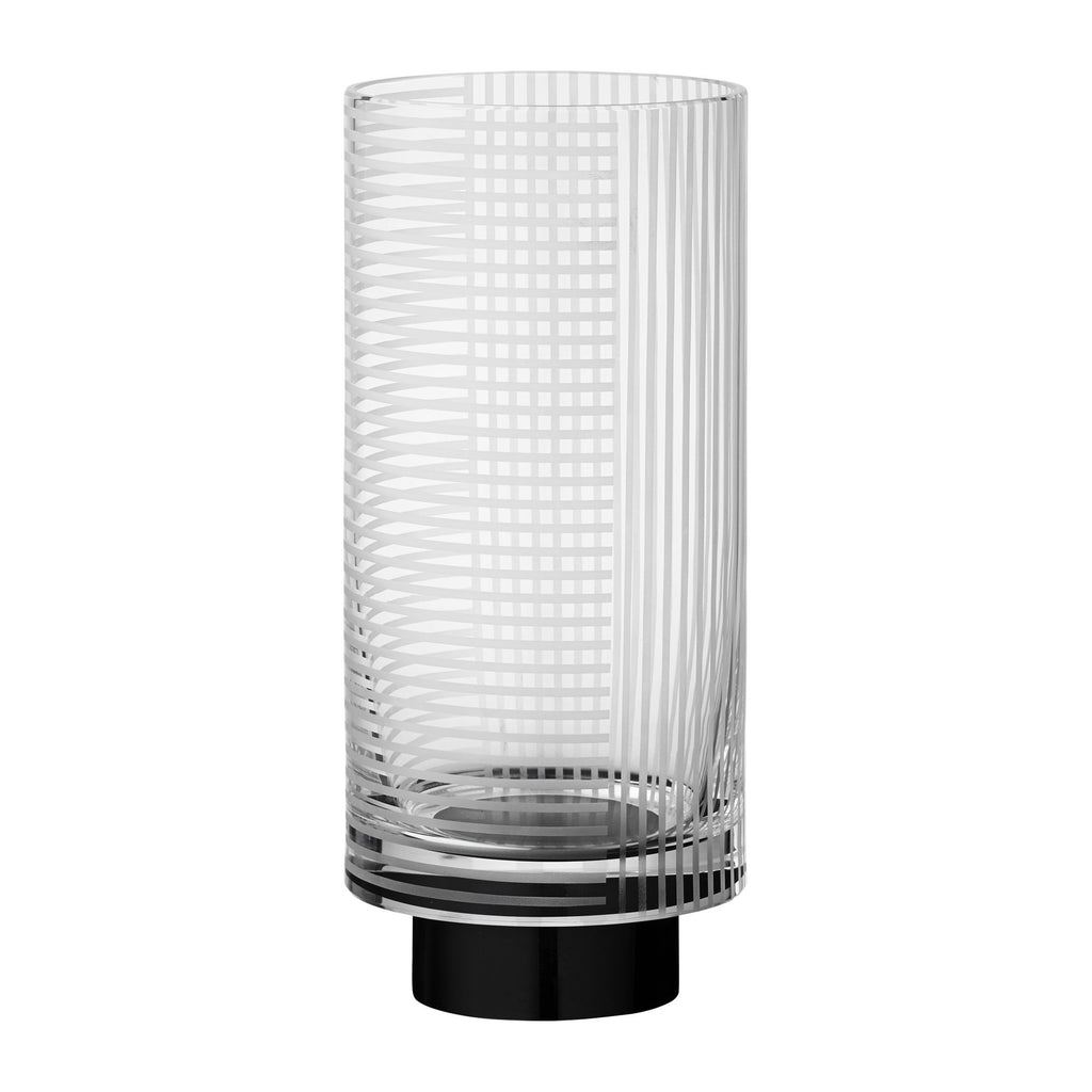 Aytm Vase Vitreus, Large, Clear/black