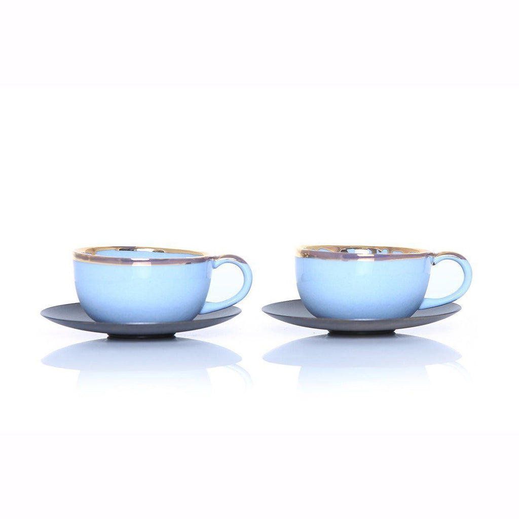 Ozlemtuna Coffee Set 2pcs Porcelain, Blue